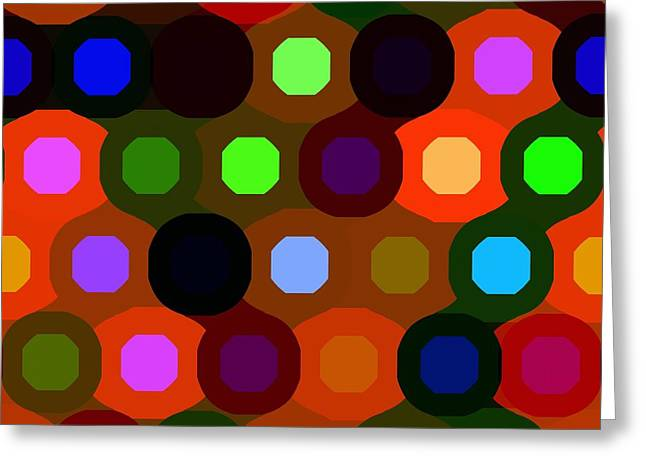 Geometric Art Greeting Cards - Abstraction Design Greeting Card by Victor Gladkiy