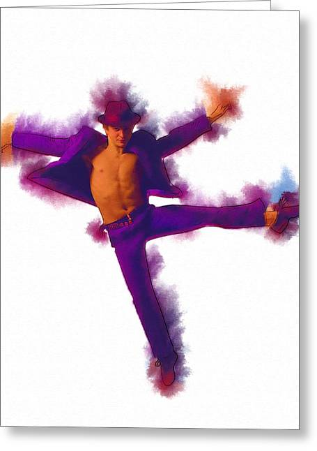 Ballet Dancers Greeting Cards - And Dance Greeting Card by Michael Vicin