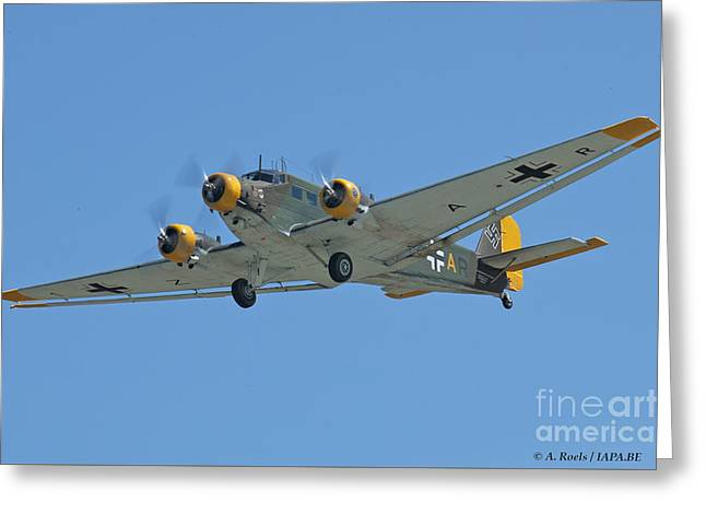 Ju 52 Greeting Cards - EAA Oshkosh 2005 Greeting Card by Antoine Roels