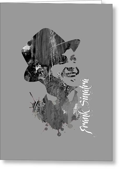Gold Art Greeting Cards - Frank Sinatra Collection Greeting Card by Marvin Blaine