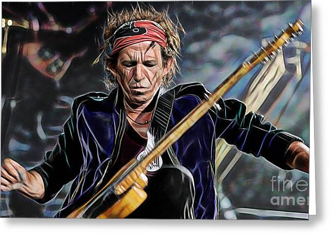 Keith Richards Greeting Cards - Keith Richards Collection Greeting Card by Marvin Blaine