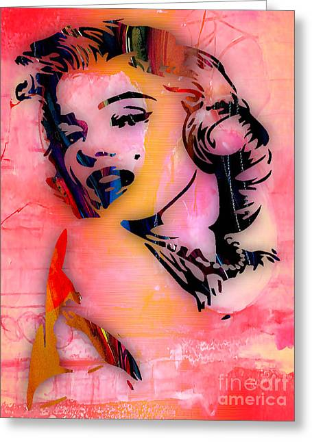 Gold Art Greeting Cards - Marilyn Monroe Collection Greeting Card by Marvin Blaine
