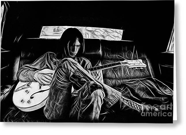 Neil Young Greeting Cards - Neil Young Collection Greeting Card by Marvin Blaine