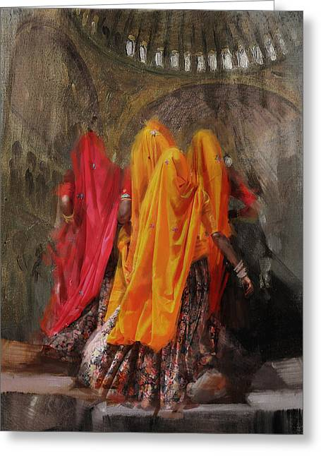 19 Pakistan Folk B Greeting Card by Maryam Mughal