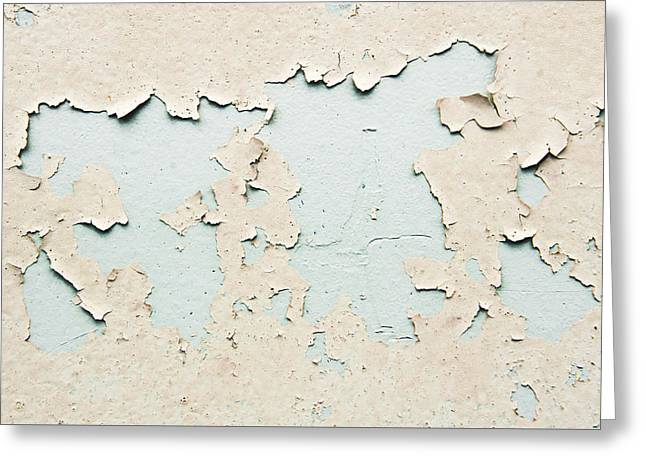 Oxidation Greeting Cards - Peeling paint Greeting Card by Tom Gowanlock