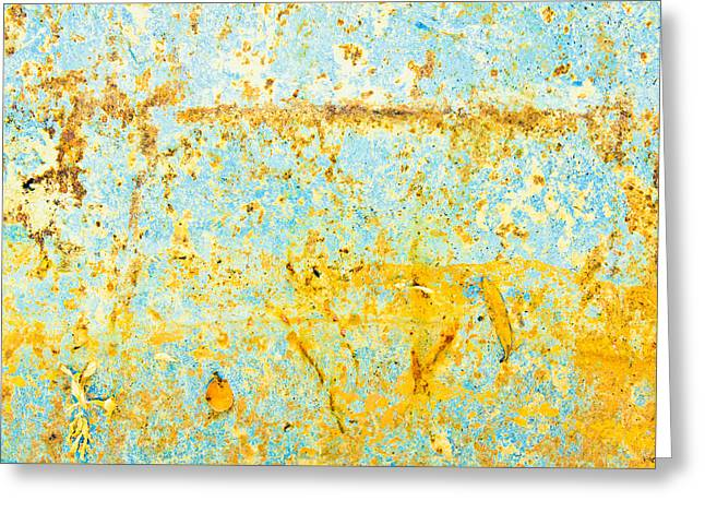 Unseen Greeting Cards - Rusty metal Greeting Card by Tom Gowanlock