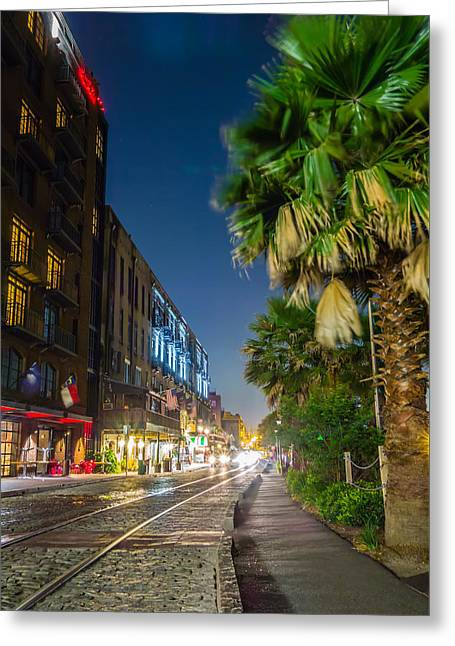 Historic Ship Greeting Cards - Savannah Georgia Waterfront And Street Scenes  Greeting Card by Alexandr Grichenko