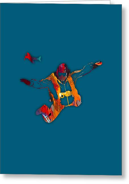 Skydiving Collection Greeting Card by Marvin Blaine