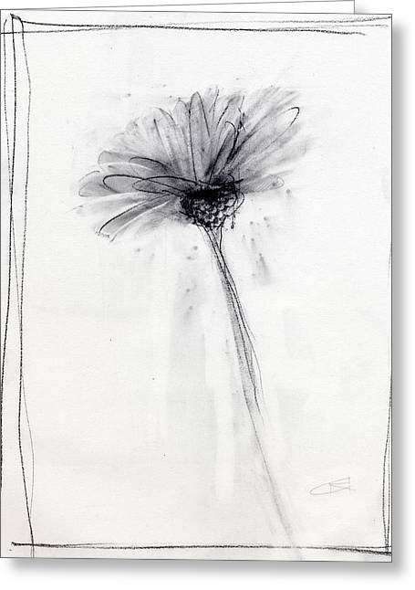 Glass Vase Drawings Greeting Cards - RCNpaintings.com Greeting Card by Chris N Rohrbach