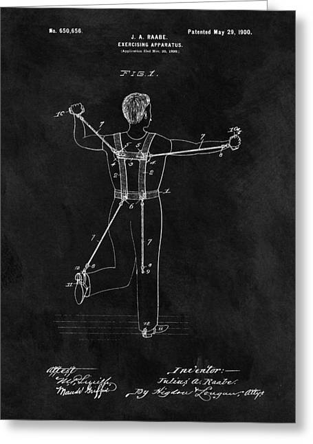 1900 Exercise Equipment Patent Greeting Card by Dan Sproul