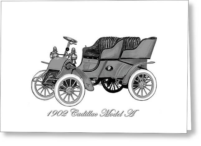 1902 Cadillac Model A  Greeting Card by Jack Pumphrey