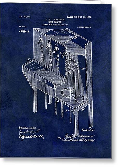 1903 Beer Cooler Patent Greeting Card by Dan Sproul