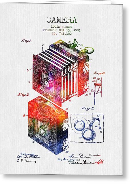 1903 Camera Patent - Color Greeting Card by Aged Pixel