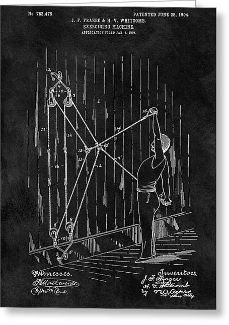 1904 Exercise Apparatus Patent Greeting Card by Dan Sproul