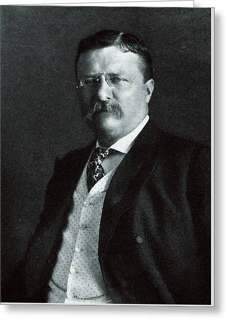 1904 President Theodore Roosevelt Greeting Card by Historic Image