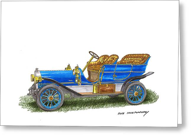 Car Framed Prints Greeting Cards - 1906 Lambert Touring model H Greeting Card by Jack Pumphrey