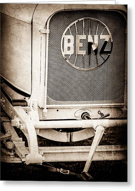 1908 Benz Prince Heinrich Two Seat Race Car Grille Emblem -1696s Greeting Card by Jill Reger