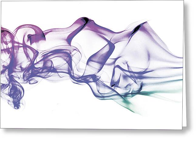 Modern Photographs Greeting Cards - Abstract Smoke Art Greeting Card by Stephen Inglis