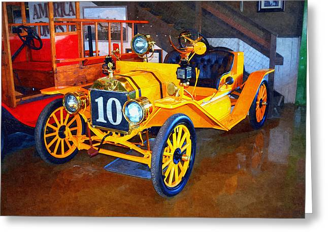 Old Relics Greeting Cards - 1910 Ford T Speedster Greeting Card by Glenn McCarthy Art and Photography