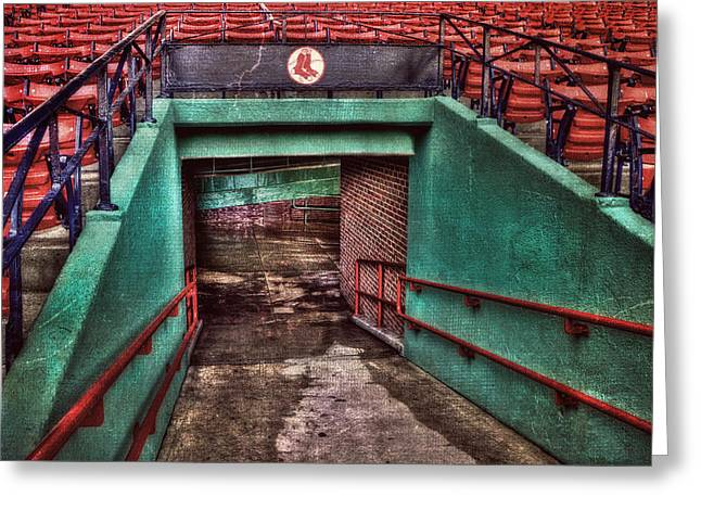 Boston Sports Greeting Cards - 1912 - Fenway Park - Boston Greeting Card by Joann Vitali