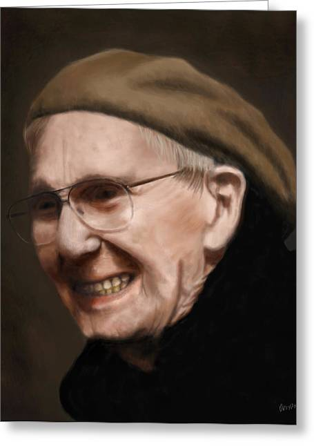 Old Man Digital Greeting Cards - 1912 Greeting Card by Kevin Phipps
