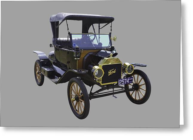 Ford Model T Car Greeting Cards - 1914 Model T Ford Antique Car Greeting Card by Keith Webber Jr
