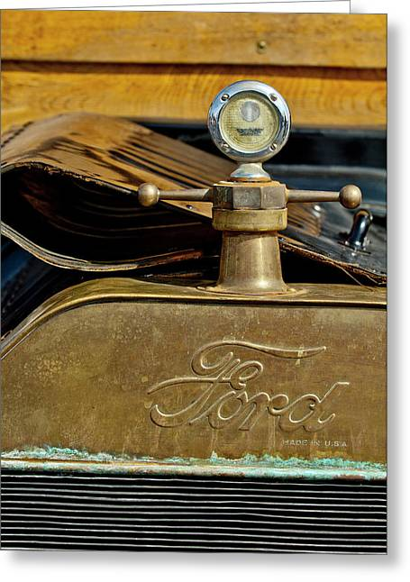 Hoodies Greeting Cards - 1915 Ford Depot Hack Hood Ornament  Greeting Card by Jill Reger