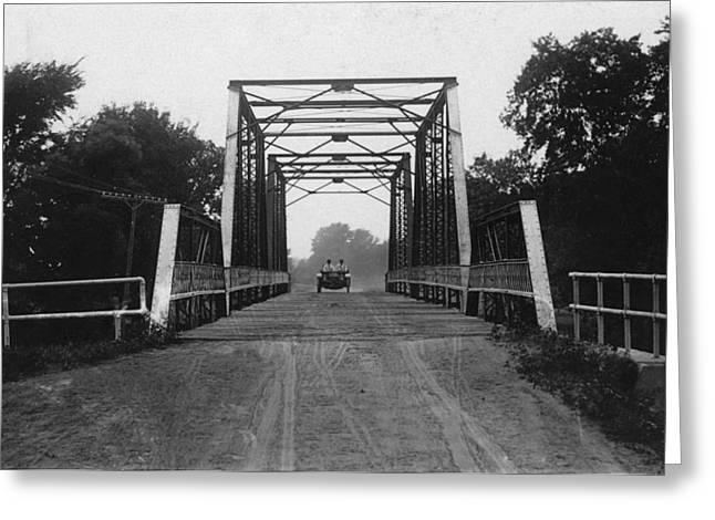 1915 Hudson Road Bridge Greeting Card by Greg Joens
