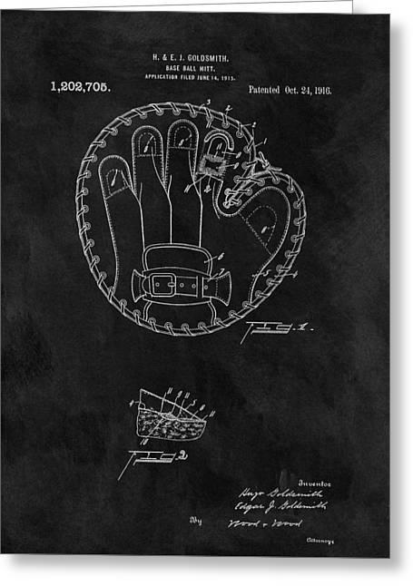 1916 Baseball Mitt Patent Greeting Card by Dan Sproul