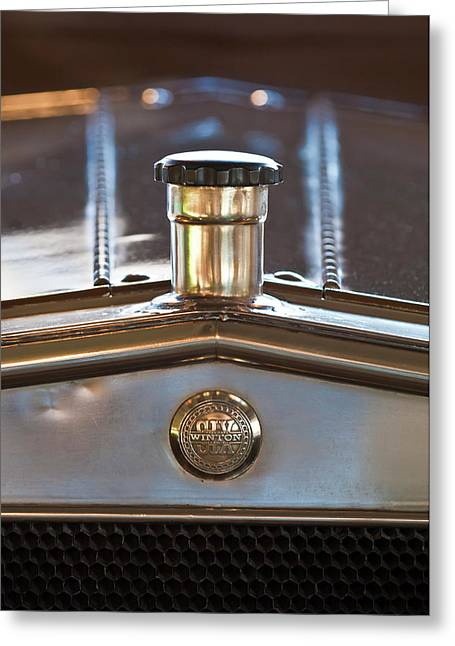 Car Mascots Greeting Cards - 1917 Winton Six-33 Sport Touring Hood Ornament Greeting Card by Jill Reger