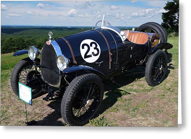 Wild Racers Greeting Cards - 1920 Bugatti Brescia Type 13 Greeting Card by Bill Dutting