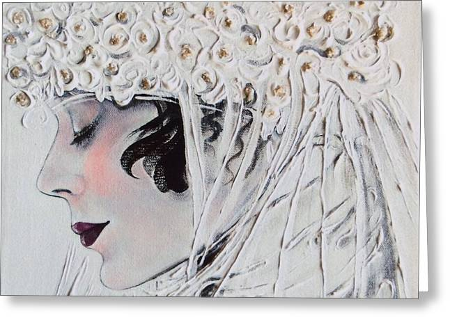 Liberation Greeting Cards - 1920s Bride Greeting Card by Barbara Chase