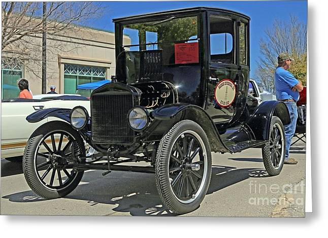 Ford Model T Car Greeting Cards - 1921 Ford Model T Greeting Card by Blaine Nelson