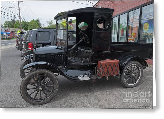 Ford Model T Car Greeting Cards - 1922 Model T Ford  Greeting Card by Beth Wolff