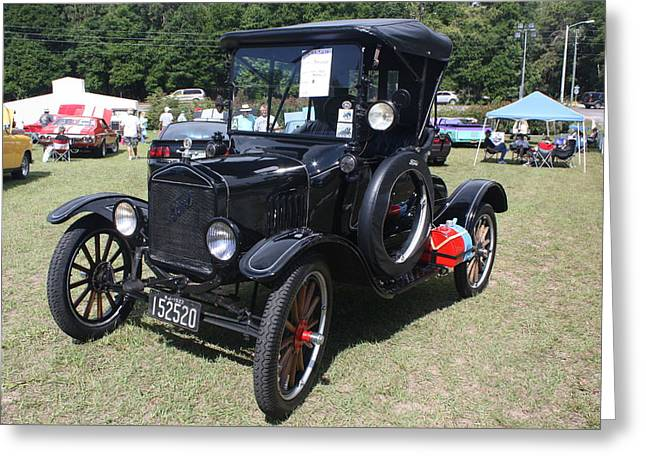 Ford Model T Car Greeting Cards - 1922 Model T Ford Greeting Card by Dorothy Menera