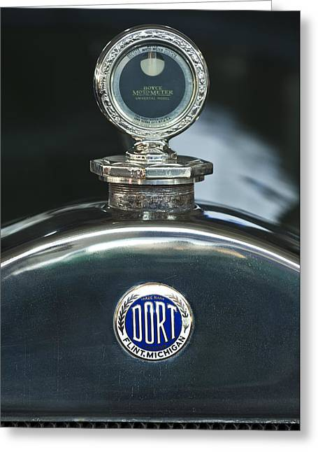 Car Mascot Greeting Cards - 1923 Dort Sport Hood Ornament Greeting Card by Jill Reger