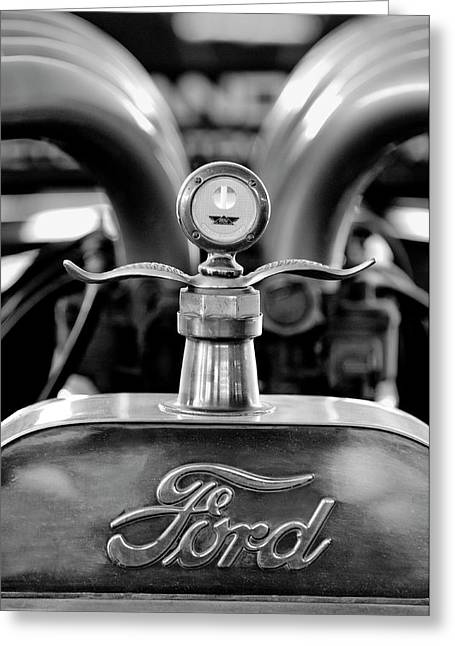 Best Stock Photos Greeting Cards - 1923 Ford Hood Ornament 2 Greeting Card by Jill Reger