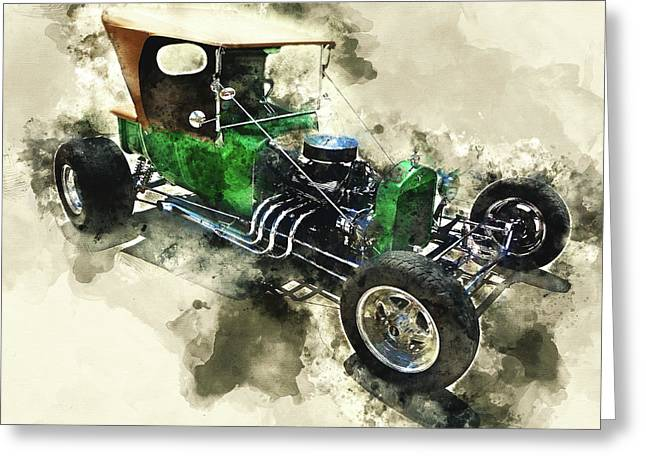 1923 Ford T-bucket Greeting Card by Kevin O'Hare