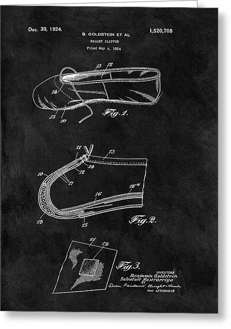 1924 Ballet Slipper Patent Greeting Card by Dan Sproul