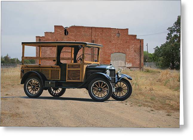Ford Model T Car Greeting Cards - 1926 Ford Model T Utility-Produce Truck Greeting Card by Dave Koontz