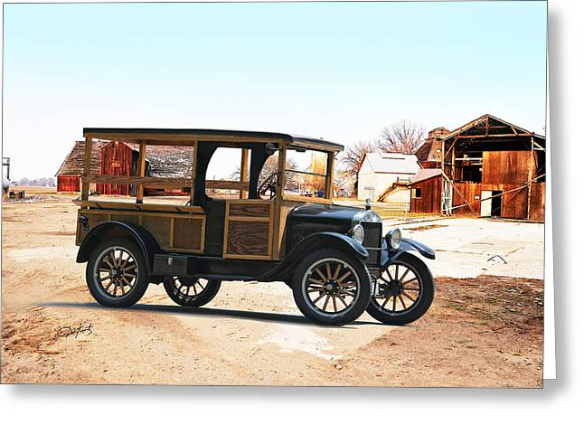 Ford Model T Car Greeting Cards - 1926 Ford Model T Utility Truck Greeting Card by Dave Koontz
