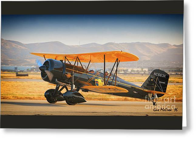 1926 Stearman Speedball  2016 Planes Of Fame Airshow Greeting Card by Gus McCrea