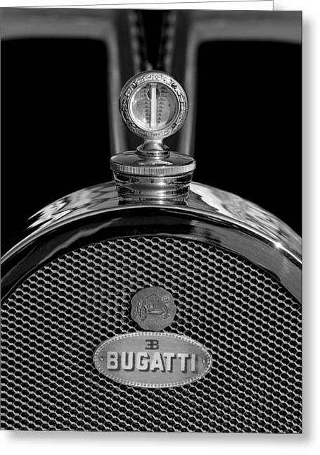 Best Stock Photos Greeting Cards - 1927 Bugatti Replica Hood Ornament 3 Greeting Card by Jill Reger