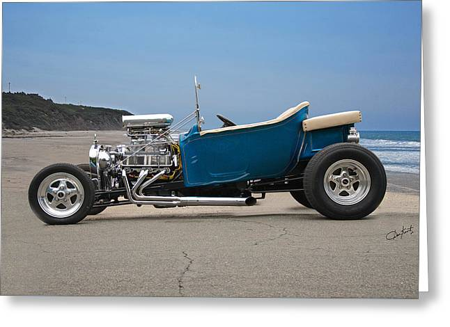Ford Model T Car Greeting Cards - 1927 Ford Bucket T Pickup Roadster I Greeting Card by Dave Koontz