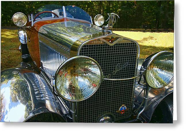 1927 Hispano - Suiza H6 B Greeting Card by Allen Beatty