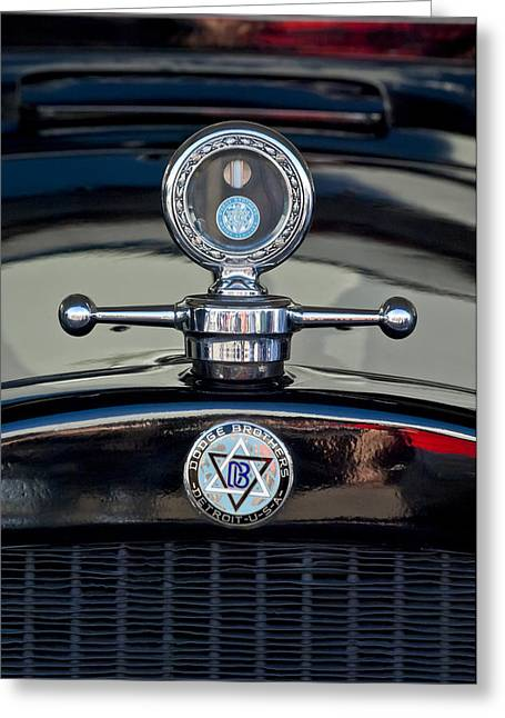 Mascot Photographs Greeting Cards - 1928 Dodge Brothers Hood Ornament Greeting Card by Jill Reger