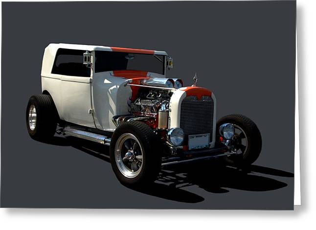 Ford Custom Greeting Cards - 1928  Ford Custom Hot Rod Greeting Card by Tim McCullough
