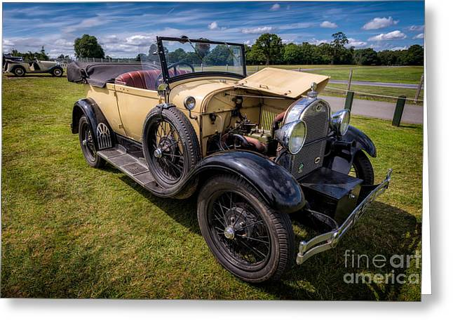 Headlight Greeting Cards - 1928 Ford Model A  Greeting Card by Adrian Evans