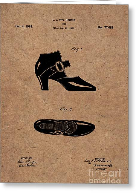 1928 Mary Jane Shoes Patent 1 Greeting Card by Nishanth Gopinathan
