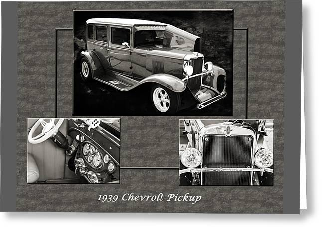 1929 Chevrolet Vintage Classic Car Automobile Sepia 3557.01 Greeting Card by M K  Miller